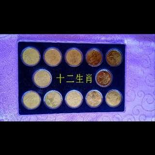 中國〖+二生肖〗紀念币Unc品