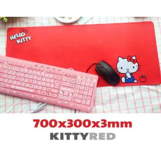 HELLO KITTY-RED 7030 Extra Large Mousepad Anti-Slip Gaming Office Desktop Coffee Dining Tabletop Decorative Mat