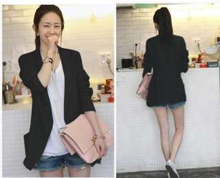 Korean Style casual cotton and linen suit jacket female