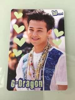 G-dragon 夜光卡