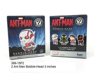 2 ANT-MAN BOBBLE-HEAD MYSTERY BLIND