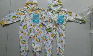 2in1 sleepsuit topi motif balon udara by libby