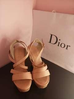AS厚底粉色涼鞋 37