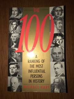 Book: The 100 - A Ranking of the Most Influential Persons in History by Michael Hart