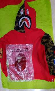 Jual Rugi BAPE CAMO  monster face Hoodie full zip Mirror 1:1