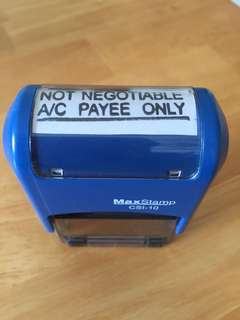 "Self inking ""Not Negotiable A/C Payee Only"""