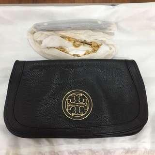 Tory Burch black clutch sling bag