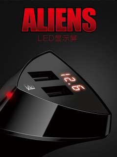 Remax Aliens 2 USB Voltage-visible Car Charger RCC-208