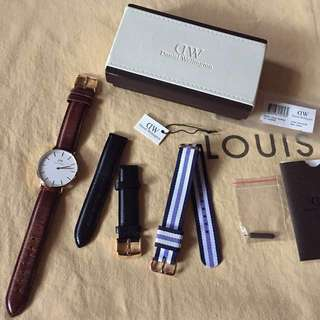 Authentic Daniel Wellington Watch with Interchangeable Straps
