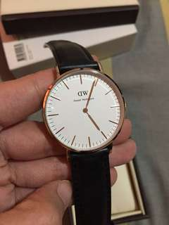 Authentic Daniel Wellington Watch with 3 straps