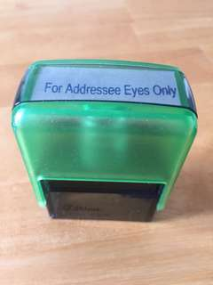 "Self inking ""For Addressee Eyes Only"""
