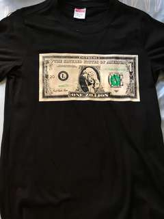 Supreme one zillion dollar tee
