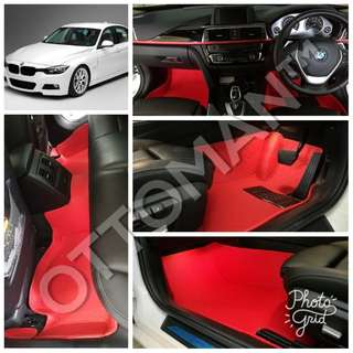 BMW OTTOMAN PU LEATHER CAR CARPET PROMOTION