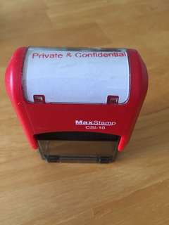 """Self inking """"Private & Confidential"""""""