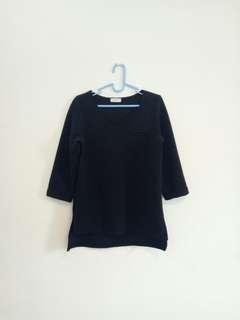 black long-sleeved top