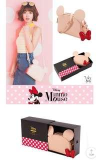 BNIB Grace Gift Minnie Mouse Sweet Pink Satchel < Plus 2 Free Bags >