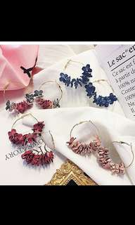<PO> WILD FLOWERS EARRINGS