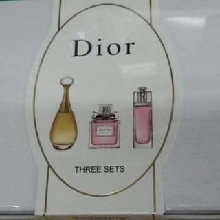 Dior three sets perfume