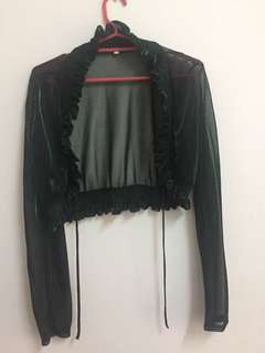 Lurex spandex lace coat out-ware 100% polyester