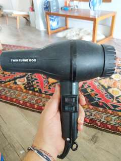 Hairdryer twin turbo 1500