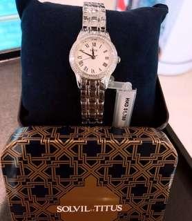 母親節重點推介💕施華洛華水晶鐵達時鋼帶女裝錶