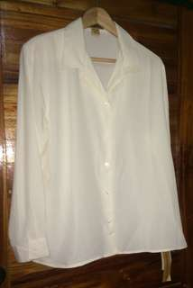 Notations Ivory Coloured Blouse XL