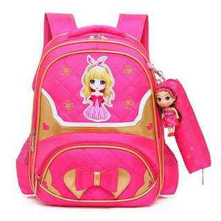 Bag with doll charm