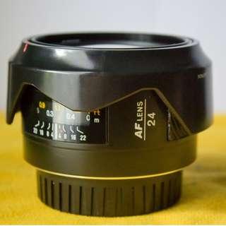 Wide Lens Minolta AF 24mm F2.8 Langka