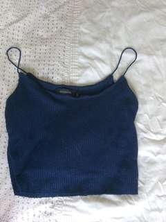 *glassons blue cropped singlet*