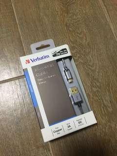 Verbatim  叉電線 充電線 3A
