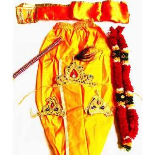 Krishna Costume with props for 5 to 7 years
