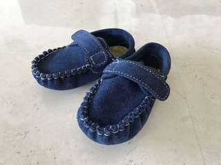 Baby boy shoes genuine leather blue size 12-18M brand new