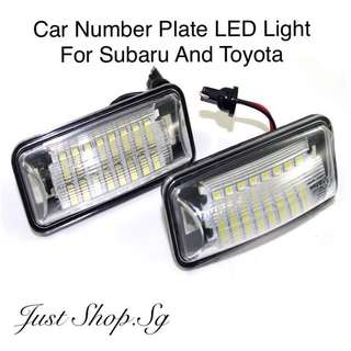Car Number Plate LED Light For Subaru And Toyota