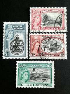 1881 North Borneo used set