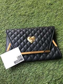 Preloved authentic Love Moschino Black Clutch Bag