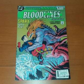 Vintage DC Comics, Adventures Of Superman BLOODLINES Earthplague 1993