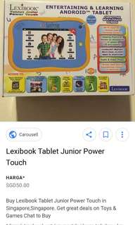 Lexibook tablet junior power touch