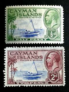 Cayman islands KG stamps