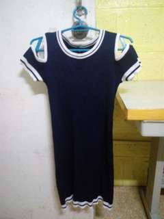 Blue Navy Knitted Dress