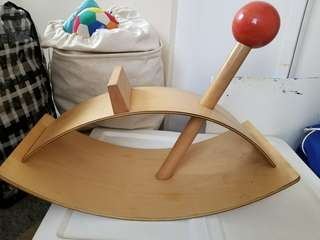 Red Ball Rocking horse toy