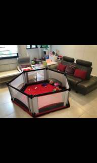 Baby 6 sided playpen play yard