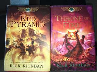 *AMAZING BOOKS* The Red Pyramid and The Throne of Fire