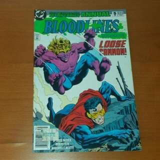 Vintage DC Comics, Superman In Action Comics Annual BLOODLINES Earthplague, 1993