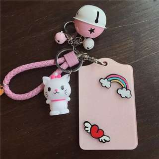 Little Cartoon Card Holder w Keychain - DFE321  Design: as attach photo