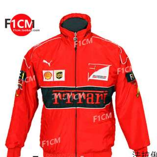 Ferrari long sleeve jacket coat F1 Racing black red