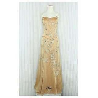Evening gown/Long dress gold/Gaun pesta gold 6531