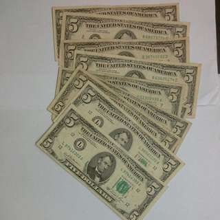 10 Usa United States $5 1981 And 1985