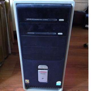 compaq presario pc desktop computer casing >10 years old not for fussy buyers