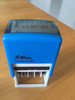 """""""RECEIVED BY"""" with date self inking stamp"""