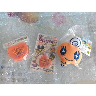 日本直送 全新他媽哥池 MEMETCH(心形鏡子+盒子+公仔鏡子)珠鍊吊飾 (1套3件)  包郵